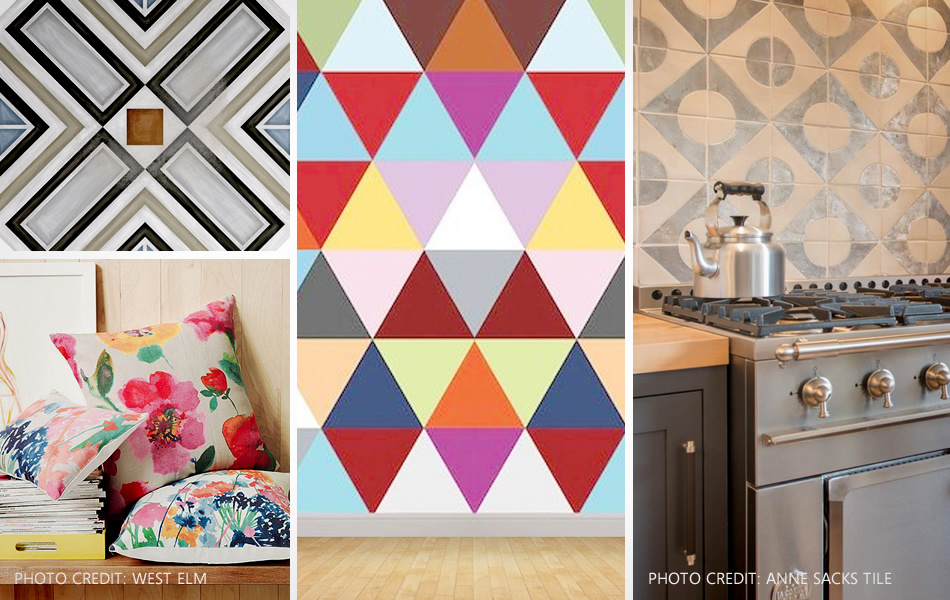 using patterns and textures for interior design
