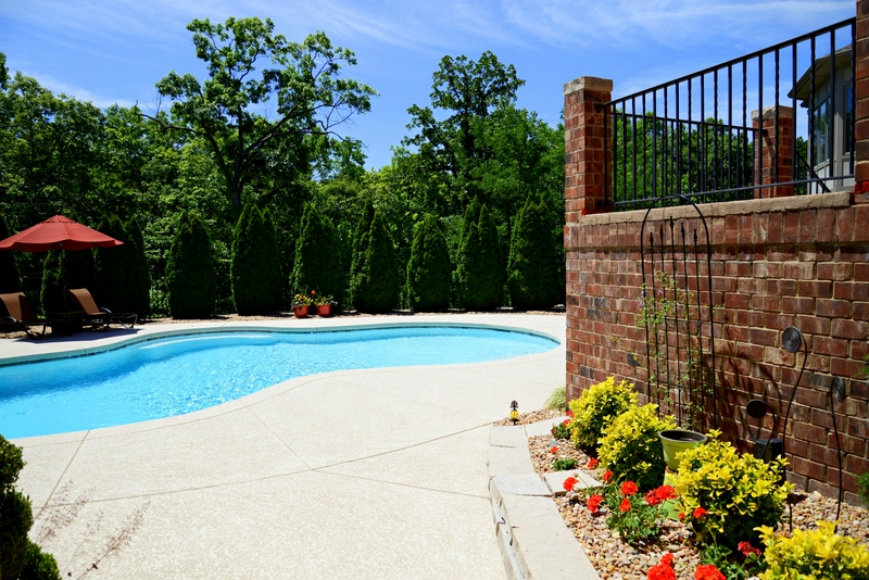 Sunset Hills Outdoor Addition Expanded Pool Deck and Walkway