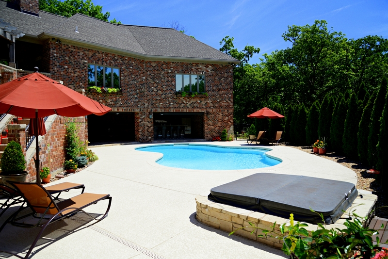 Sunset Hills Outdoor Addition Expanded Pool Deck