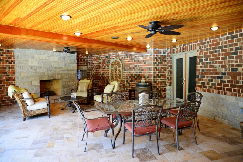 Sunset Hills Outdoor Addition Dining and Lounge Area
