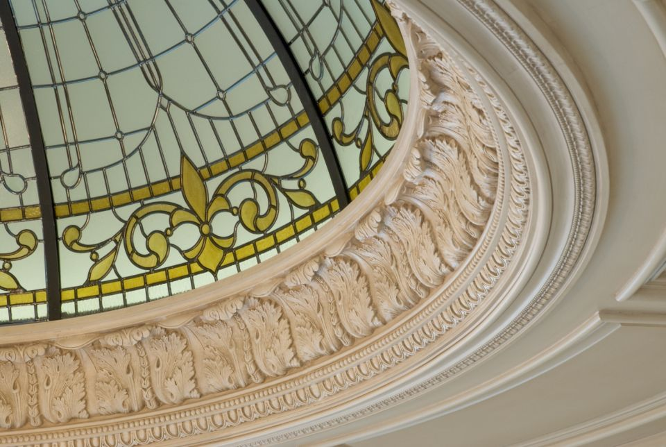 Custom Glass Dome Ceiling Detail - Monticello