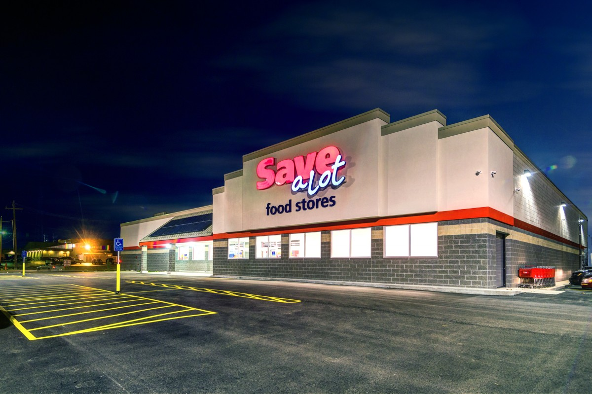 Save-A-Lot grocery store building architecture and design
