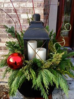 holiday urn decorations